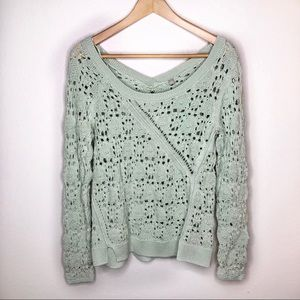Anthropologie Mint collect stitches sweater 00022